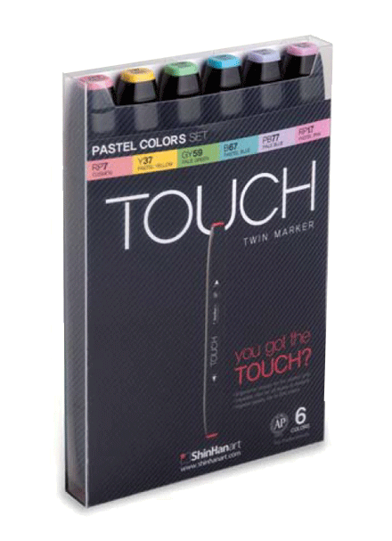 ShinHan Touch Twin Marker Set of 6 Pastels