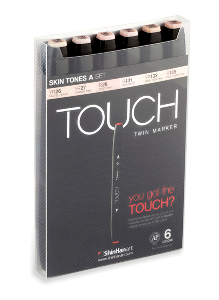 ShinHan Touch Twin Marker Set of 6 Skin Tones