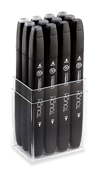 ShinHan Touch Twin Marker Set of 12 Cool Greys