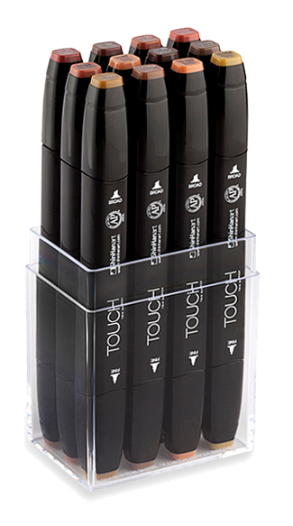 ShinHan Touch Twin Marker Set of 12 Woods