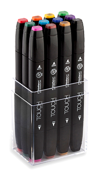 ShinHan Touch Twin Marker Set of 12 Main Colors