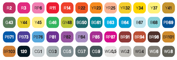 ShinHan Touch Markers Set of 48