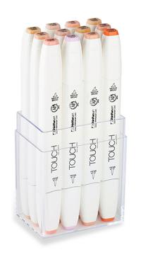 ShinHan Touch Twin Brush Marker Set of 12 Skin Tones