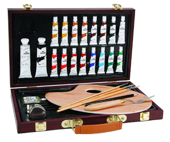 Studio 71 Wood Box Oil Set of 27 Pieces