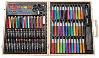 Artyfacts 131 Piece Deluxe Wooden Box Art Set