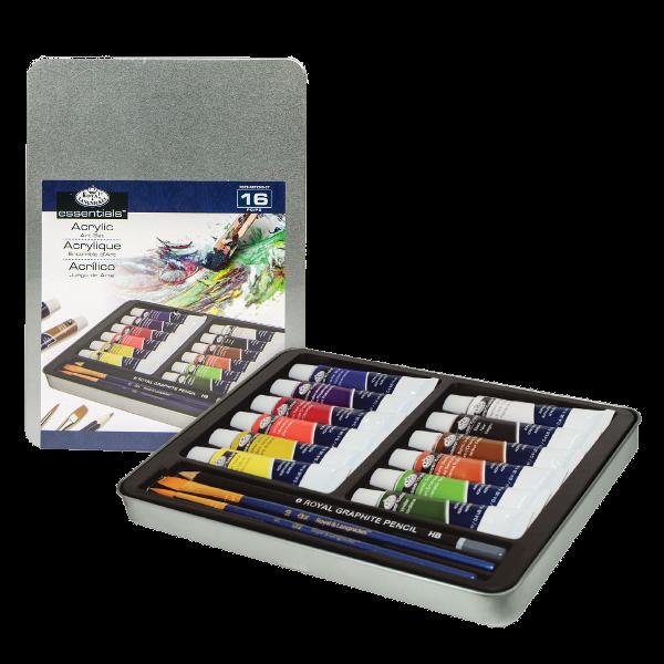 Royal & Langnickel Acrylic Paint Medium Tin Art Set