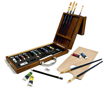 Royal & Langnickel 27 Piece Acrylic Artist Case Set