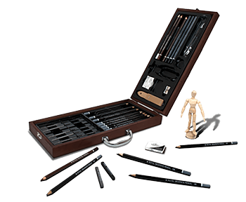 Royal & Langnickel 40 Piece Sketching Artist Case Set