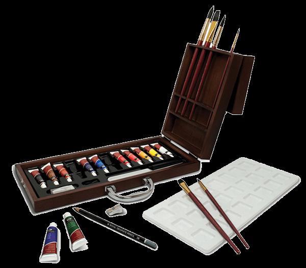 Royal & Langnickel 24 Piece Watercolor Artist Wood Box Set