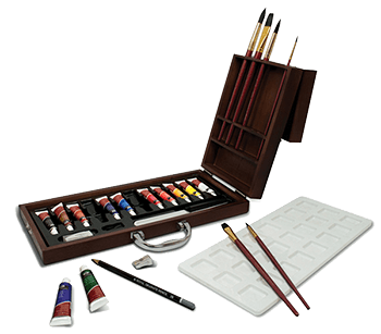 Royal & Langnickel 24 Piece Watercolor Artist Wood Box Set