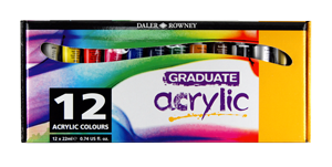Daler-Rowney Graduate Acrylic Set of 12