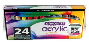 Daler-Rowney Graduate Acrylic Set of 24