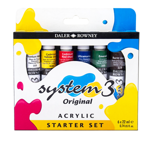 Daler-Rowney System 3 Acrylic Color Starter Set