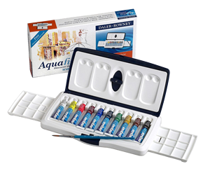 Daler-Rowney Aquafine Watercolor 10 Tube Slider Set