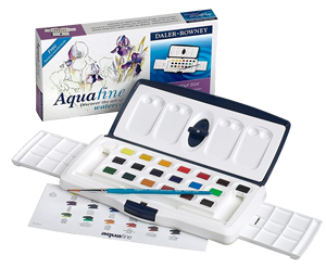 Daler-Rowney Aquafine Watercolor 20 Half Pan Slider Set