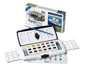 Daler-Rowney Aquafine Watercolor Tube & Half Pan Slider Set