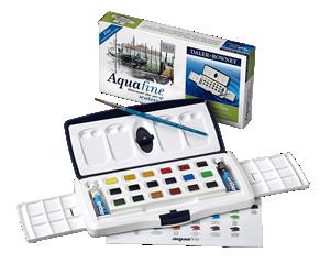 Daler-Rowney Aquafine Watercolor Tube & Half Pan Slider Set