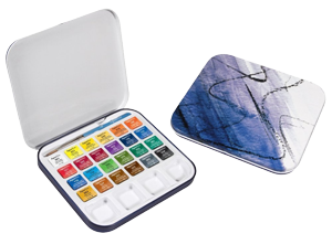 Daler-Rowney Aquafine Travel Set of 24 Half Pans