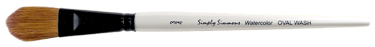 Simply Simmons Watercolor Pony Brush, Oval Wash - Size 1/2
