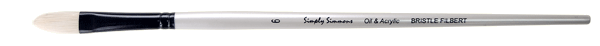Simply Simmons Oil & Acrylic Bristle Brush LH, Filbert - Size 1
