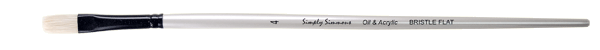 Simply Simmons Oil & Acrylic Bristle Brush LH, Flat - Size 1