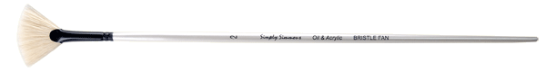Simply Simmons Oil & Acrylic Bristle Brush LH, Fan - Size 2
