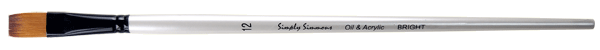 Simply Simmons Oil & Acrylic Synthetic Brush LH, Bright - Size 4