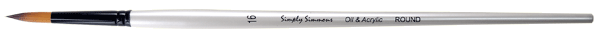 Simply Simmons Oil & Acrylic Synthetic Brush LH, Round - Size 4