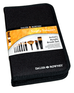 Simply Simmons Acrylic Brush Zip Case