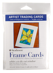 Strathmore Artist Trading Card Frame Cards Pack of 6 - Size 3.5 x 4.875