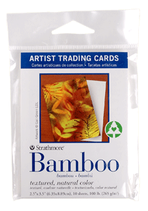 Strathmore Artist Trading Card Pack of 10 - Bamboo Paper - Size 2.5 x 3.5
