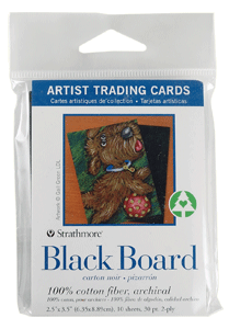 Strathmore Artist Trading Card Pack of 10 - Black Board- Size 2.5 x 3.5
