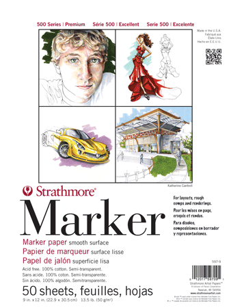 Strathmore 500 Series Marker Paper, 50 Sheets - Size 11 x 14