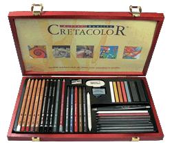 Cretacolor Ultimo Art Set of  36 - Wood Box