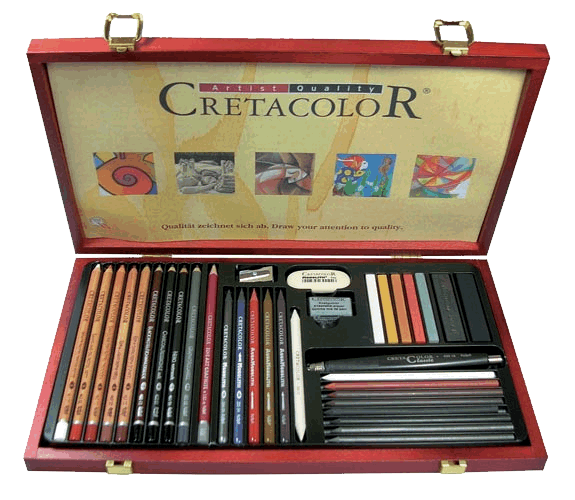 Cretacolor Ultimo Art Set of  36 - Wood Box