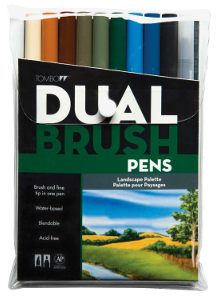 Tombow Dual Brush Pen Landscape Set of 10