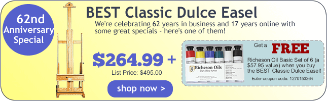 Rex Art Supplies 61st Anniversary Special - FREE Gift with the Purchase of a BEST Dulce Easel