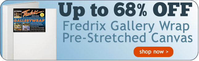 Up to 66% OFF Fredrix Gallery Wrap Stretched Canvas