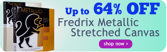 Up to 64% Off Fredrix Metallic Stretched Canvas