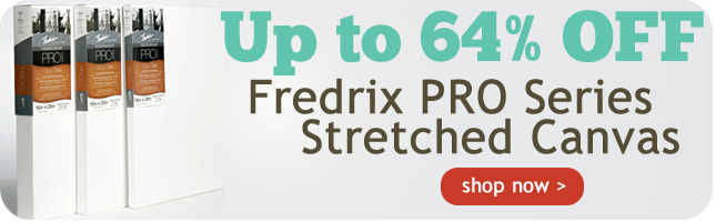 Up to 62% Off Fredrix Pro Series Cotton Stretched Canvas