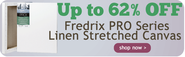 Up to 62% Off Fredrix PRO Series Linen Stretched Canvas