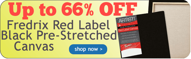 Fredrix Red Label Black Stretched Canvas Sale