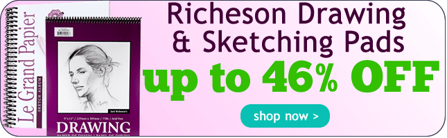 46% Off Richeson Drawing and Sketching Paper Pads